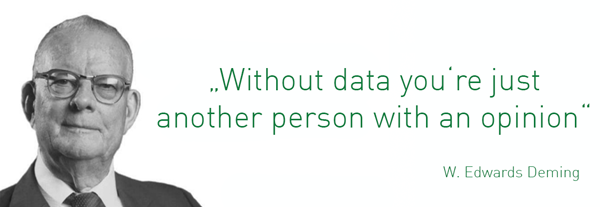 "HR-Ziele definieren mit W. Edwards Deming ""Without data you're just another person with an opinion"""